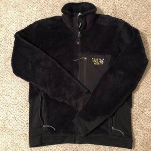 Men's Mountain Hardwear Black fleece jacket, small